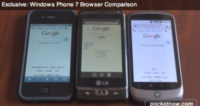 Footage: iPhone 4, Windows Phone & Nexus One Browsing Experience Compared