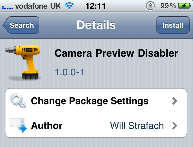 Jailbreak Only: Camera Preview Disabler - Does Exactly What It Says On The Box