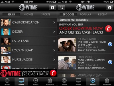 Keep Up With Your Favorite Showtime Network Series With The Official iPhone App