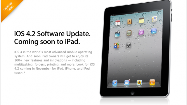 iOS 4.2 For iPad: Apple Posts Details On Site
