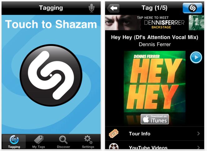 Shazam Updated - Multitasking, Retina Display Optimization, And Other Features Added