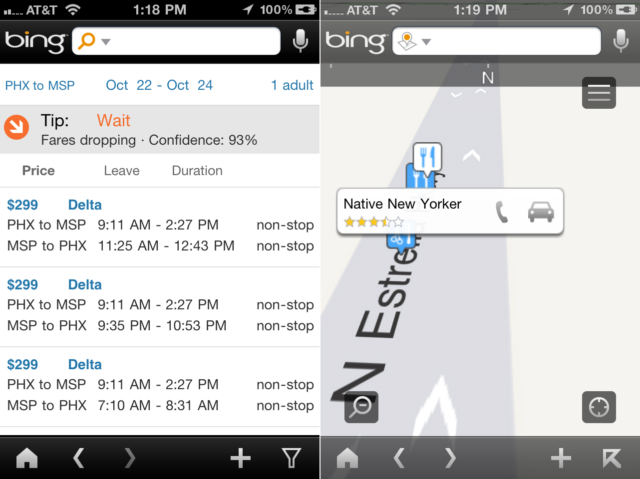 Bing iPhone App Update Adds New Travel And Map Features