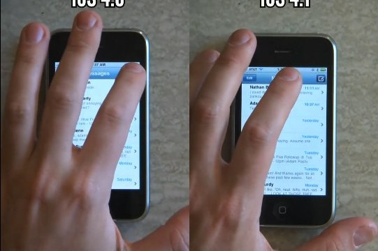 Video: iPhone 3G Performance Running 4.0 & 4.1 Compared