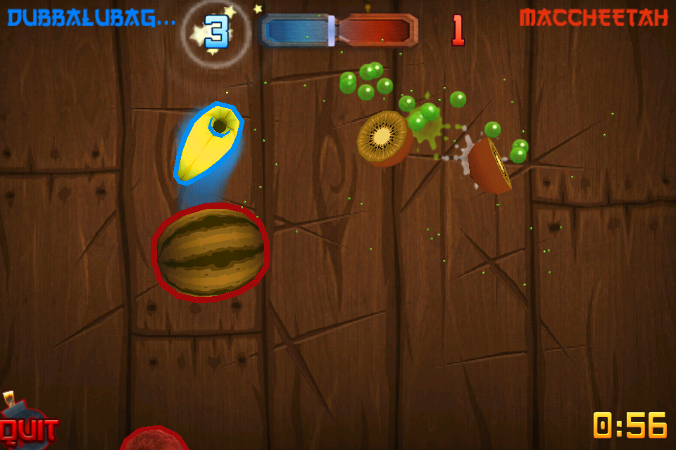 Fruit Ninja Gains Online Multiplayer Through Game Center