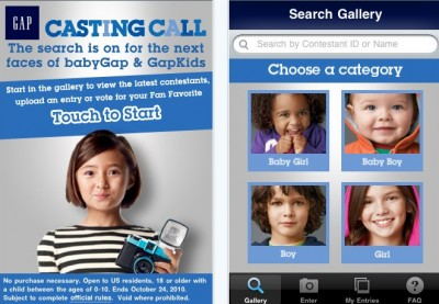 Gap Takes Its Popular Casting Call Contest For Kids To The iPhone