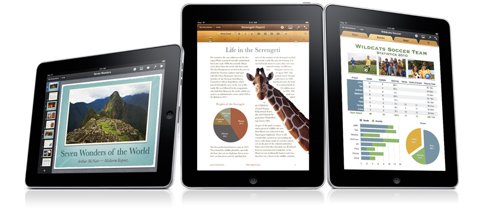 iWork Apps For iPad Updated With Significant Features