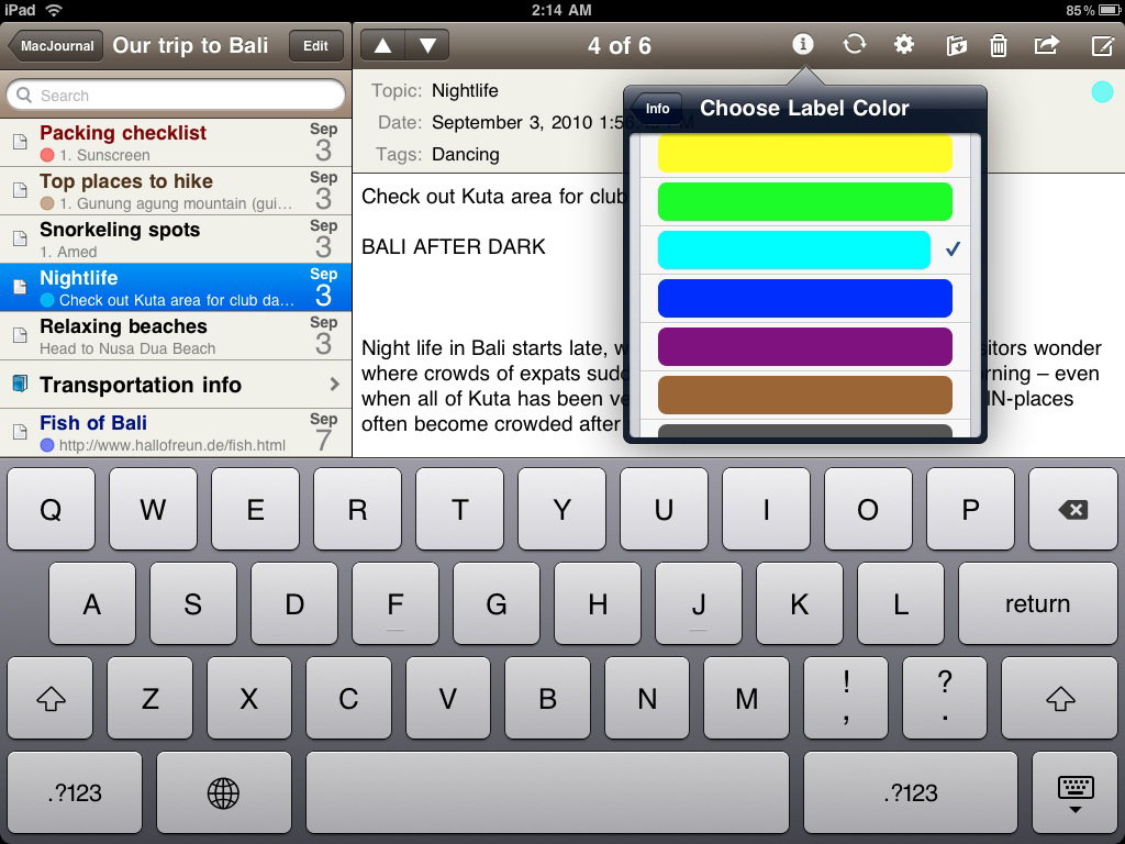 Mariner's MacJournal Coming Soon To iPad; iPhone Version To Receive A Hefty Update
