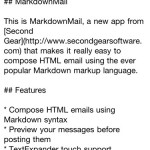 QuickAdvice: Second Gear Makes Markdown Email Even Easier