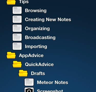 QuickAdvice: Meteor Notes Organizes Notes The Old Fashioned Way