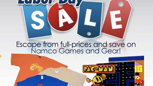 "Namco's Labor Day Weekend ""Escape From Full-Prices And Save On Games And Gear"" Sale"