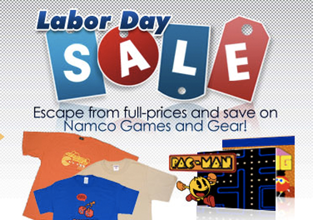 """Namco's Labor Day Weekend """"Escape From Full-Prices And Save On Games And Gear"""" Sale"""