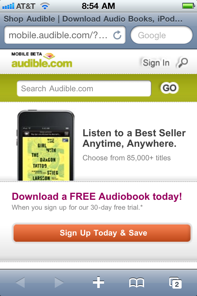 how to get books for audible app
