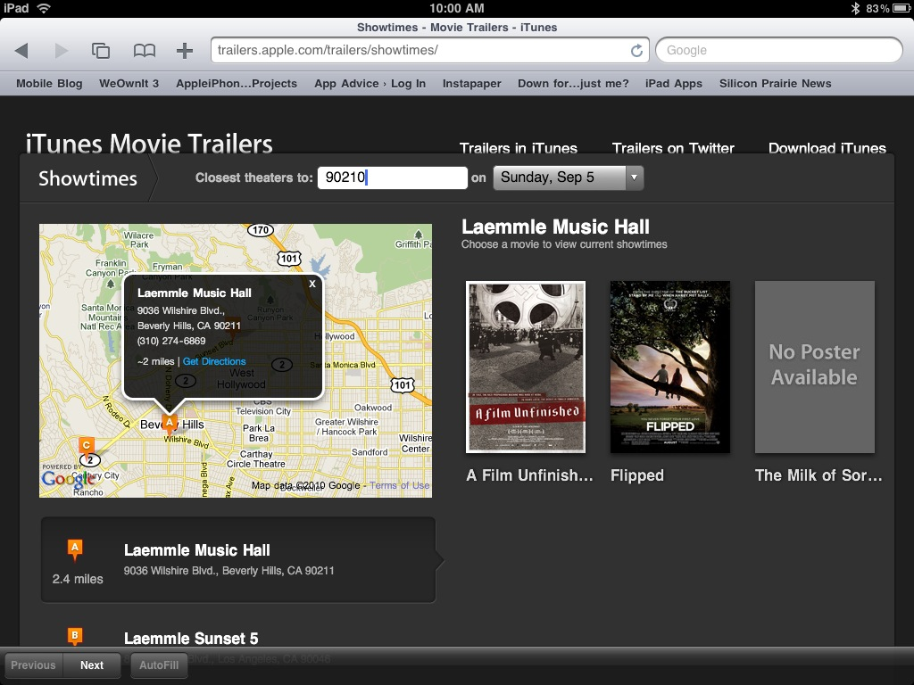 Apple Revamps Movie Trailer Site To Include Showtimes