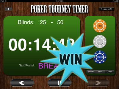 A Chance To Win A Poker Tourney Timer (iPad) Promo Code With A Retweet Or Comment