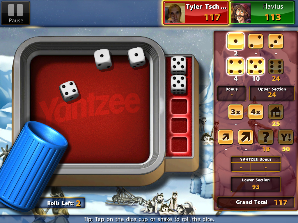 Roll The Dice And Go For Yahtzee On Your iPad
