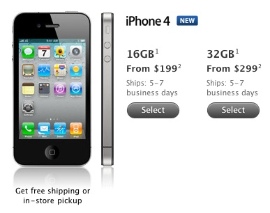 iPhone 4 Supply Begins To Ease, Shipping Times Shorten