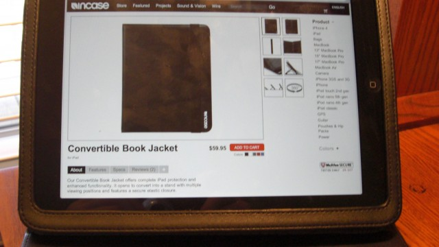 Review: Incase Convertible Book Jacket for iPad