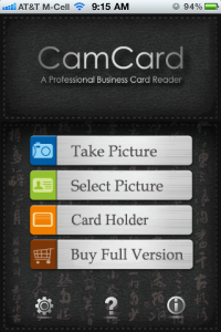QuickAdvice: Scan Business Cards Into Your iPhone's Contacts With CamCard - Plus Win a Promo Code!