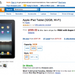 iPad Lands On Amazon, Stocks Are Depleting Fast