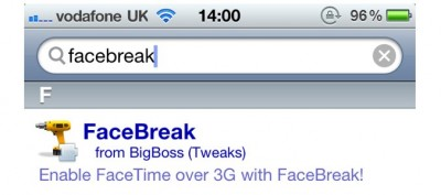 FaceBreak Updated - FaceTime Call Over 3G, On iOS 4.1