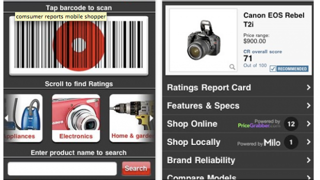 Consumer Reports Barcode Scanner Hits The App Store