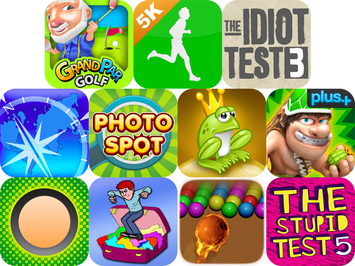 iPhone And iPad Apps Gone Free: GrandPar Golf, 5K Coach, The Idiot Test 3, And More