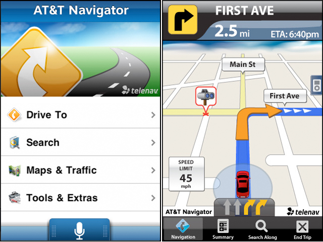 AT&T Navigator Now Has Speech Recognition, Lane Guidance, And Other Improvements