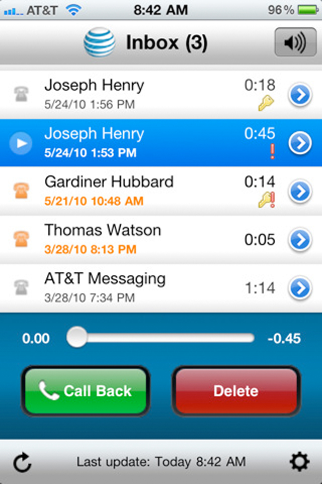 att setup voicemail iphone get the convenience of visual voicemail for your at amp t 6213