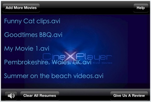 CineXPlayer Brings Xvid Playback Down To The iPhone 4