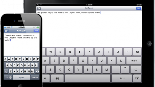 JotAgent Uploads Your Thoughts To Dropbox