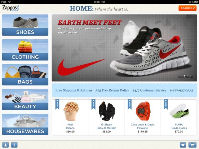 Zappos Mobile: Great On The iPad