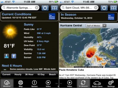 """The Weather Channel Max Finally Supports iOS 4, Gains """"In-Season"""" Content, And More"""
