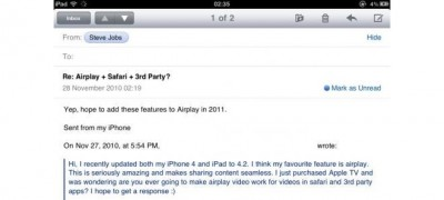 Steve Jobs: AirPlay Coming To Safari And Third Party Apps In 2011