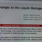 iPod Liquid Damage Policy Amended