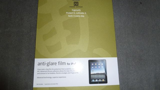 Review: Power Support Anti-Glare Film - Screen Protector For iPad
