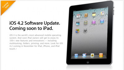 "Apple Launches New Page: iOS 4.2 Brings ""100 New Features"""