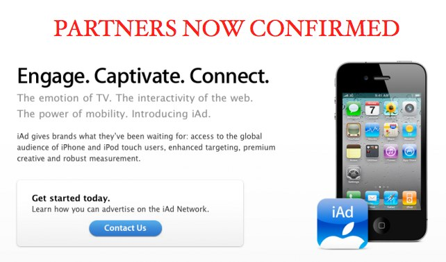 iAds In Europe: Partners Now Confirmed