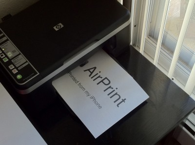 Talk About A Mobile Office: AirPrint To The Rescue