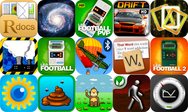iPhone And iPad Apps Gone Free: ReaddleDocs, Galactica HD, LED Football PvP, And More