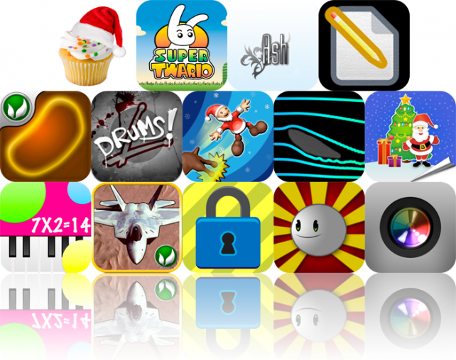 iPhone And iPad Apps Gone Free: Cupcakes! Holiday Edition, Super Twario, Ash, And More