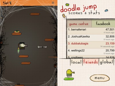 Doodle Jump Updated With Limited Game Center Integration