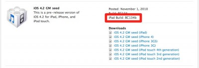 Apple Releases Second GM Build Of iOS 4.2 For iPad