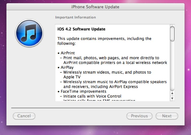 iOS 4.2.1: The Official Changelog & Direct Download Links