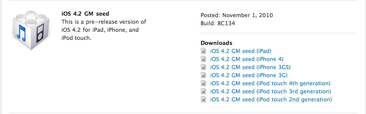 Apple Releases iOS 4.2 Gold Master To Developers [Update: See What's New!]