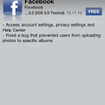 The Facebook App Gets An Update - Adds Privacy & Account Settings