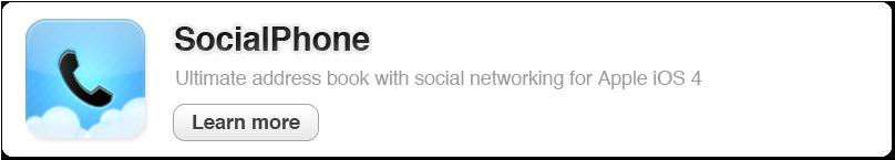 SocialPhone - Your New Social Address Book