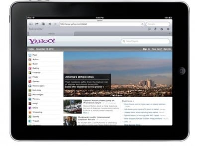 Check Out Yahoo's Recently Launched iPad-Optimized Homepage