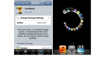 Jailbreak Only: IconSpiral - A Better Way To Display SpringBoard Icons?