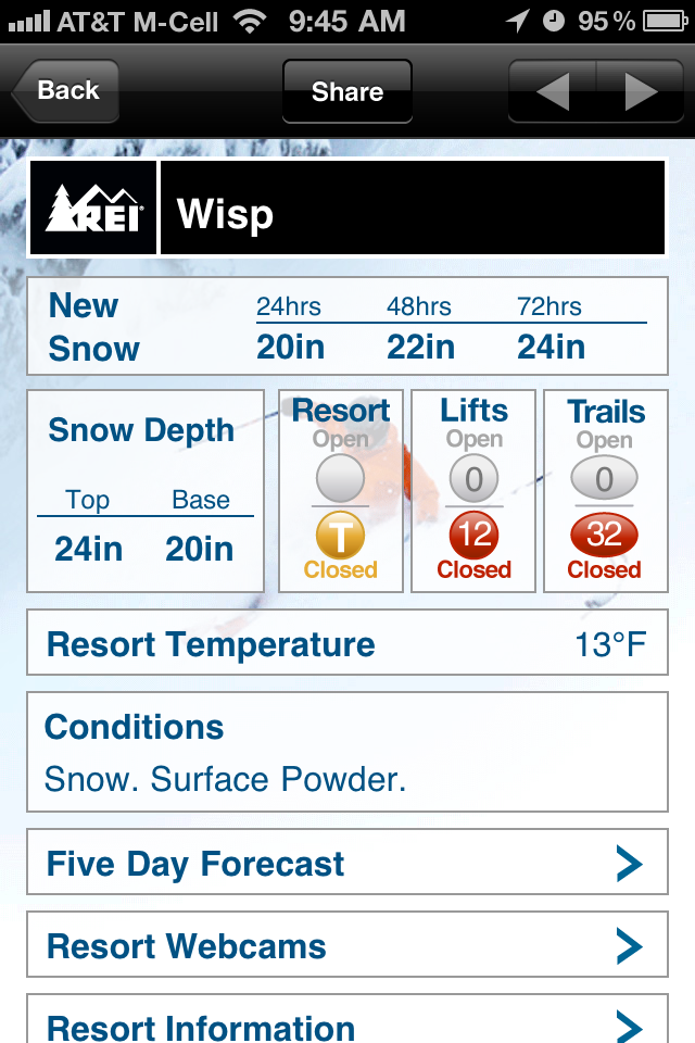 QuickAdvice: Snow and Ski Report by REI Gives You The Info You Need