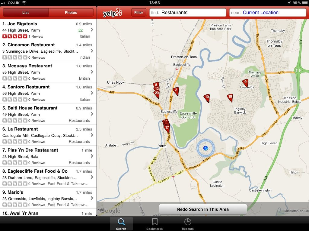 Yelp Updated: Now A Universal iOS Application